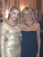 Con Carolina Bang en la Cena de Moet Chandon